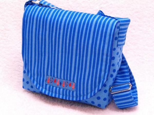 Kinderkrippe Tasche blau gestreift für Krippe und Kindergarten