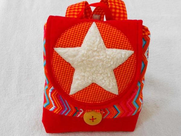 Kinderrucksack rot mit Stern