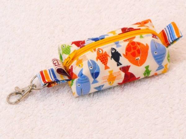 Mini-Tasche Fische - Reißverschluss gelb