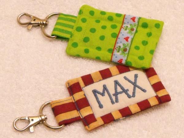 Taschenanhänger mit Name