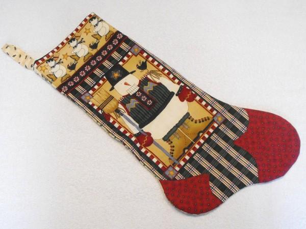 Nikolausstiefel mit Schneemann Motivstoff