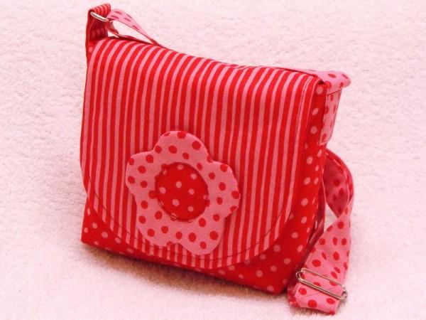 Kindertasche rot gestreift für Krippe und Kindergarten