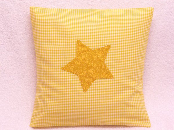 Dinkelkissen mit Kissenbezug 30 x 30 - Stern